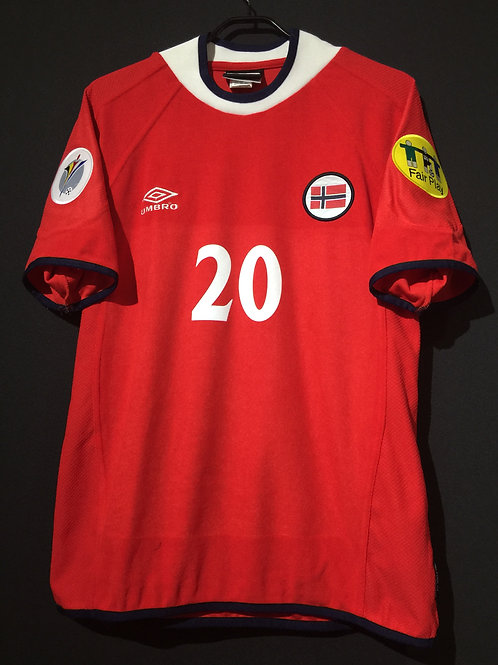【2000】 / Norway / Home / No.20 SOLSKJAER / UEFA European Championship