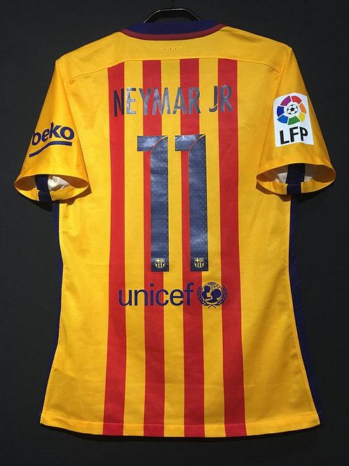 【2015/16】 / FC Barcelona / Away / No.11 NEYMAR JR / Authentic
