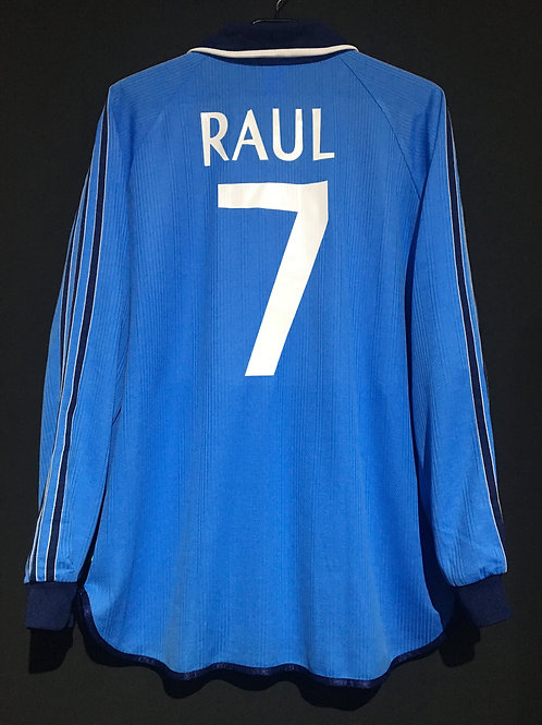 【1999/2000】 / Real Madrid C.F. / Away / No.7 RAUL / UCL / Player Issue