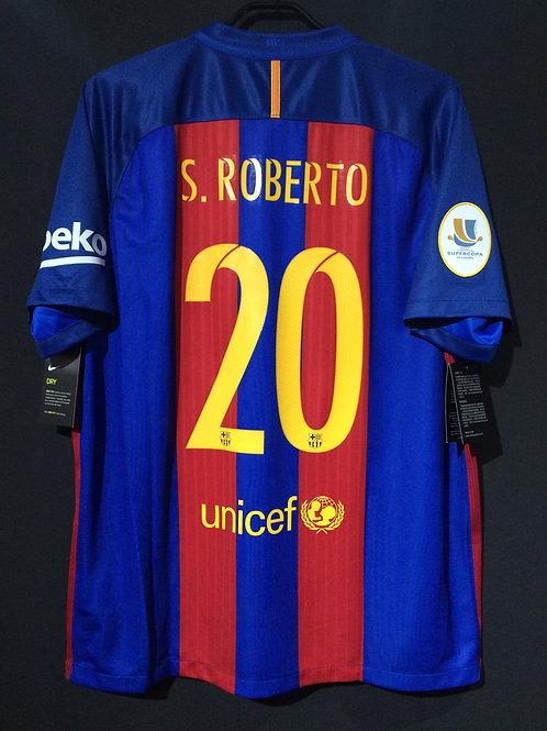 【2016】 / FC Barcelona / Home / No.20 S.ROBERTO / Phase2 / Supercopa de España