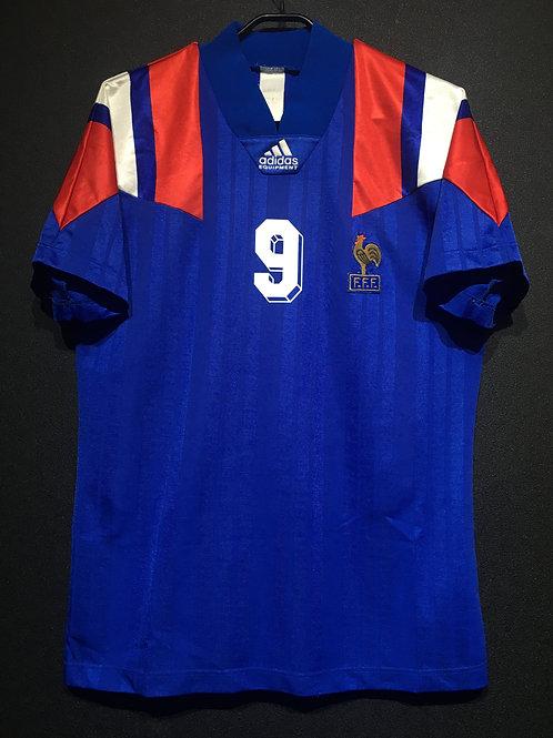 【1992/93】 / France / Home / No.9 PAPIN / UEFA European Championship
