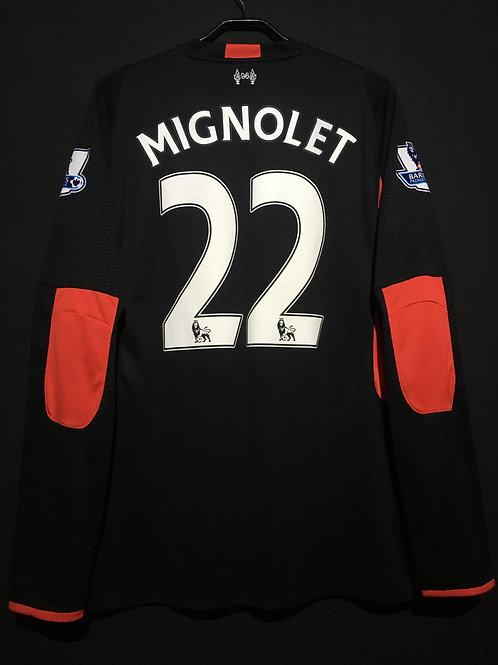 【2015/16】 / Liverpool / GK / No.22 MIGNOLET