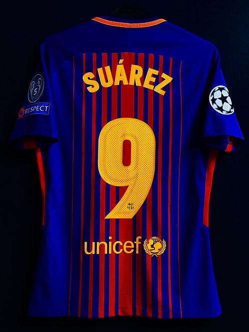 【2017/18】 / FC Barcelona / Home / No.9 SUAREZ / UCL / Player Issue