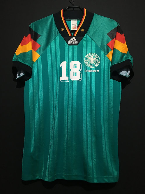 【1992】 / Germany / Away / No.18 KLINSMANN /  UEFA European Championship
