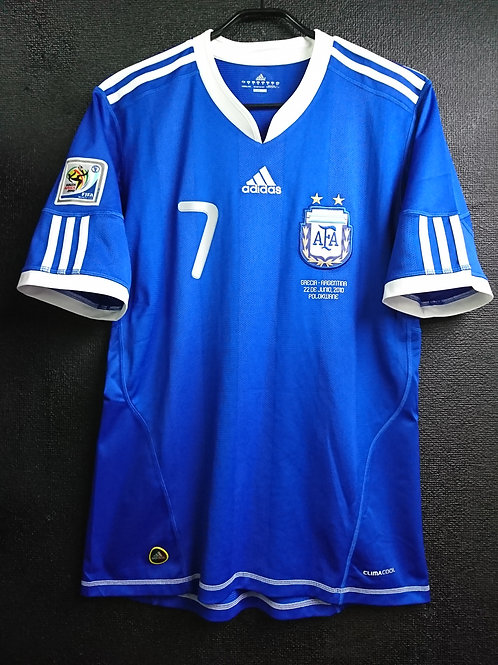 【2010】 / Argentina / Away / No.7 DI MARIA / FIFA World Cup
