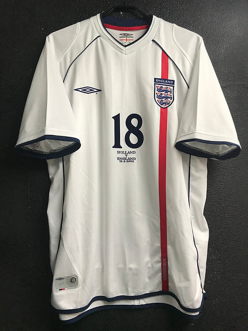 【2002】 / England / Home / No.18 LAMPARD / vs. HOLLAND