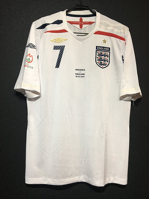 【2007】 / England / Home / No.7 HARGREAVES / UEFA EURO2008 Qualifiers