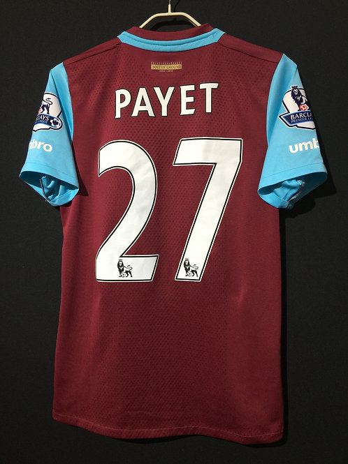 【2015/16】 / West Ham United F.C. / Home / No.27 PAYET