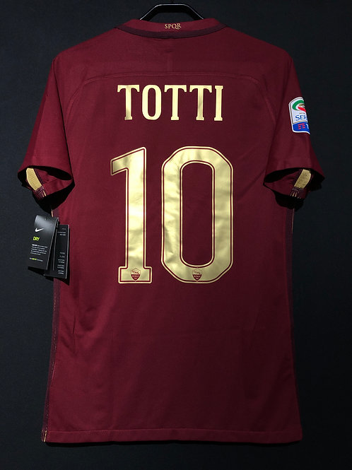 【2016/17】 / A.S. Roma / SP / No.10 TOTTI / Derby kit / Authentic