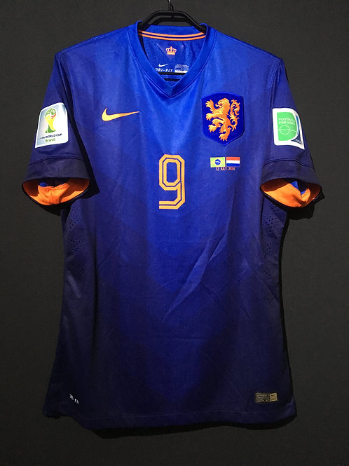 【2014】 / Netherlands / Away / No.9 V.PERSIE / FIFA World Cup / Authentic