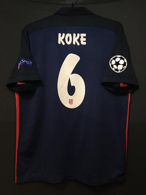 【2015/16】 / Atletico Madrid / Away / No.6 KOKE / UCL