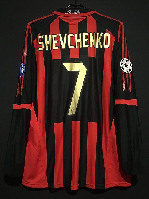 【2005/06】 / A.C. Milan / Home / No.7 SHEVCHENKO / UCL