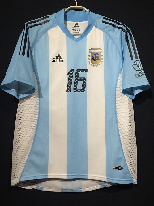 【2002】 / Argentina / Home / No.16 AIMAR / FIFA World Cup / Authentic