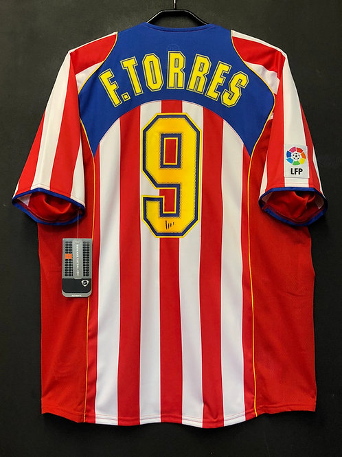 【2004/05】 / Atletico Madrid / Home / No.9 F.TORRES / c/w Columbia Pictures