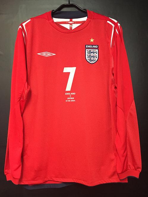 【2004】 / England / Away / No.7 BECKHAM / vs Japan