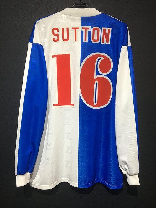 【1996/98】 / Blackburn Rovers / Home / No.16 SUTTON