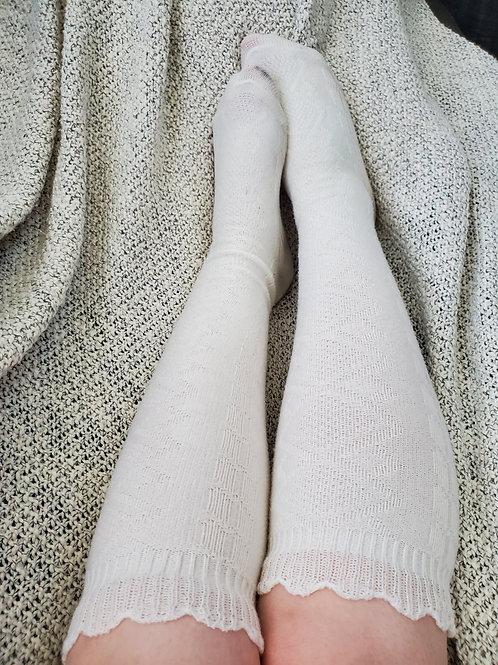 Layla's Knee-High White Socks