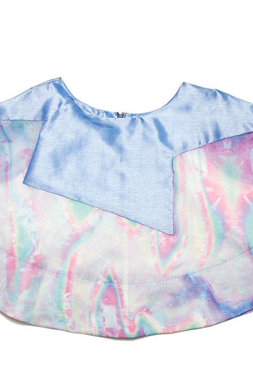 Blue Rainbow Flare Skirt