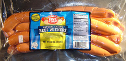 FIVE STAR Brand Natural Casing Beef Wieners