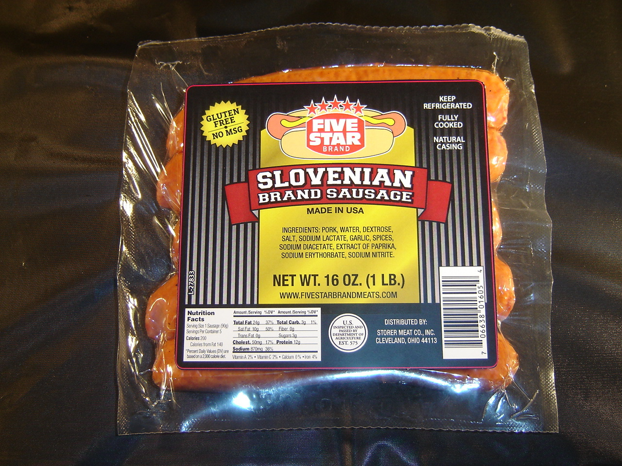 FIVE STAR Brand Slovenian Sausage