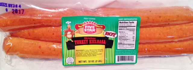 FIVE STAR Brand HOT TURKEY KIELBASA