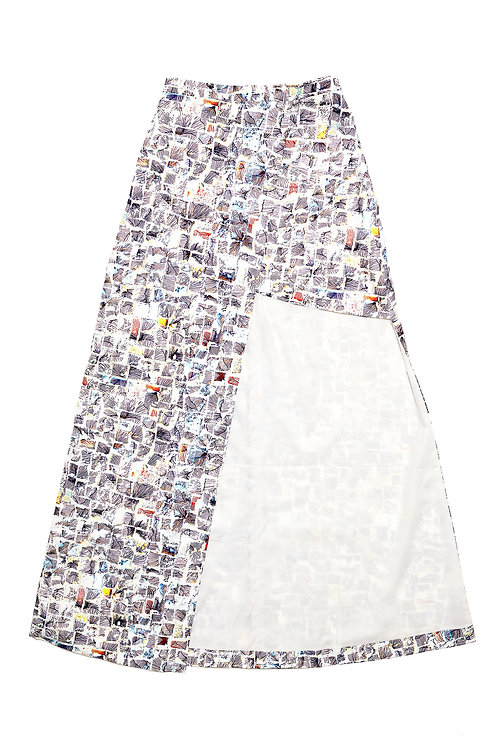 Irregular Cut Maxi Skirt