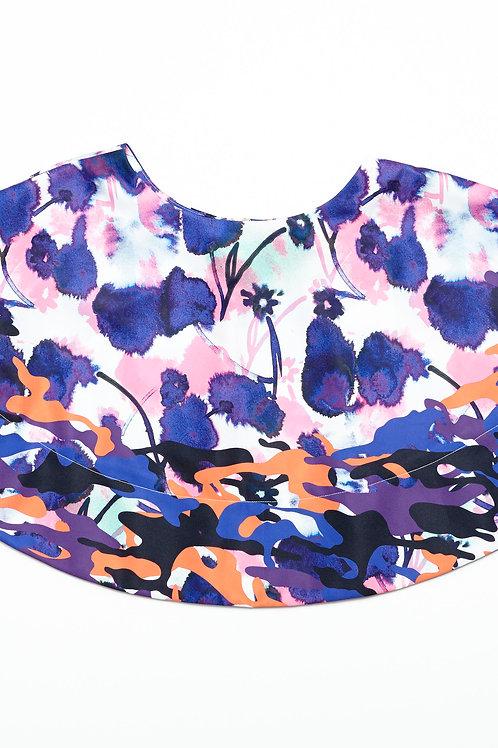 Poppy Ink Flare Mini Skirt