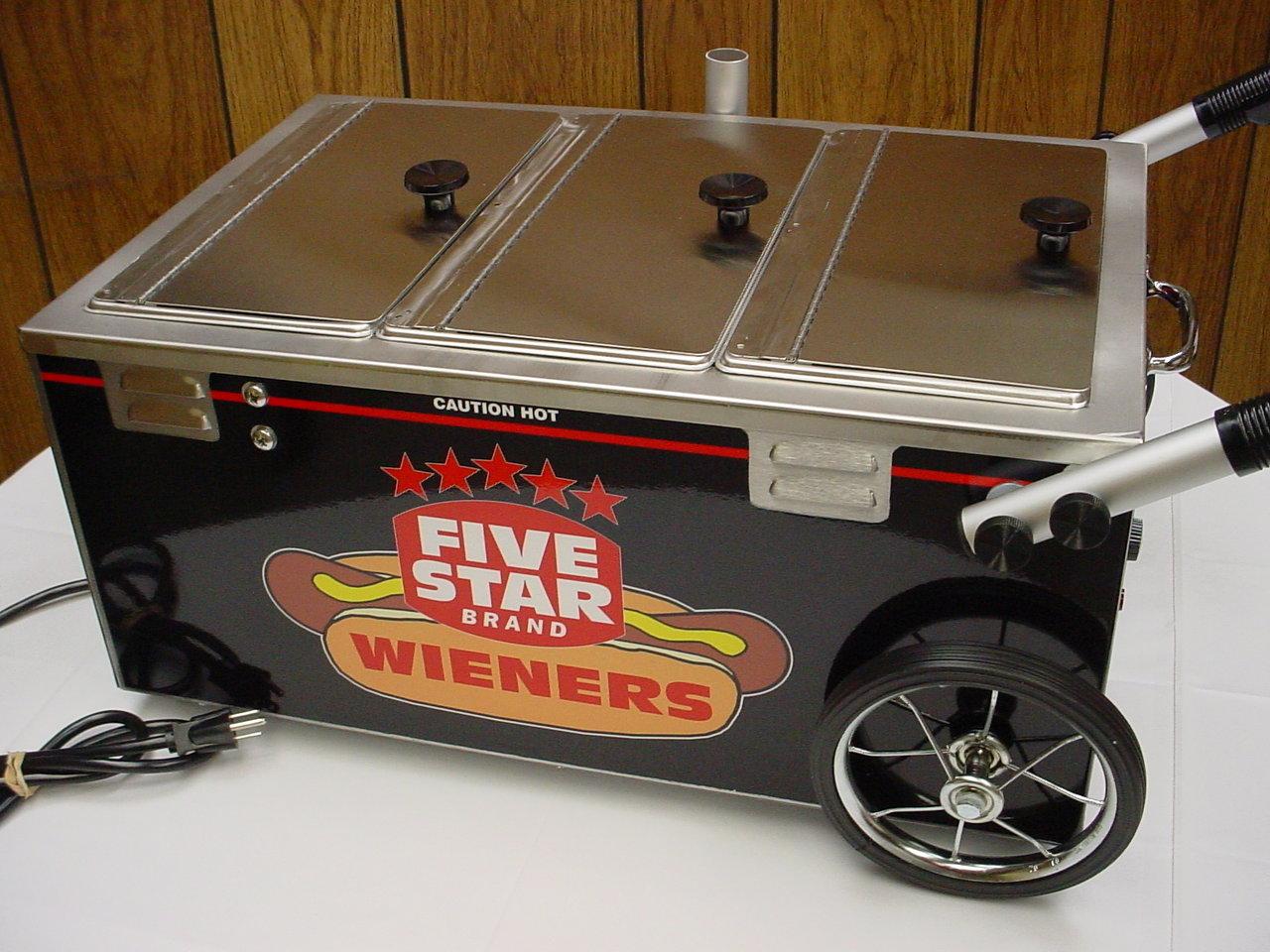 Five Star Wiener Serving Cart