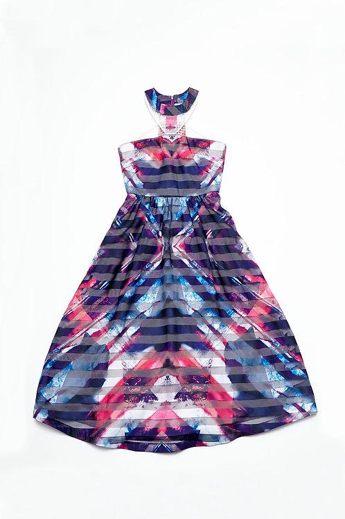 Kaleistripe Halter Dress