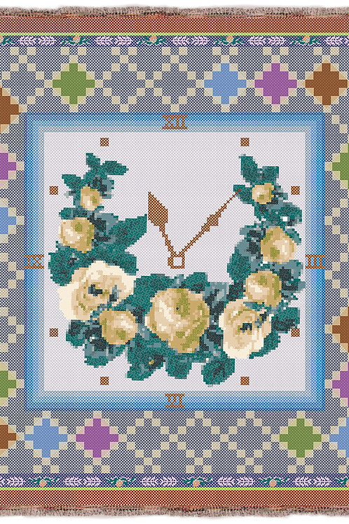 Vintage Clock Blue