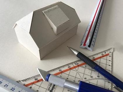 Bauprozess, Modell, Grenzland-Haus