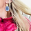 Thumbnail: Blue Coral Lotus Earrings