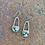 Thumbnail: U-Shaped Turquoise Earrings