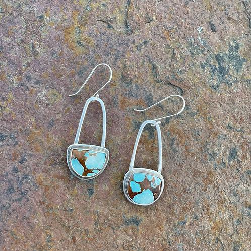 U-Shaped Turquoise Earrings