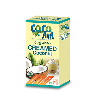Organic Creamed Coconut 200g Pack
