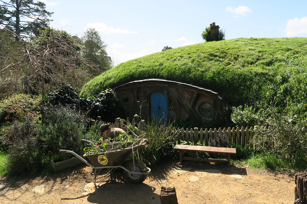 Hobbiton- real gardeners tend to the land