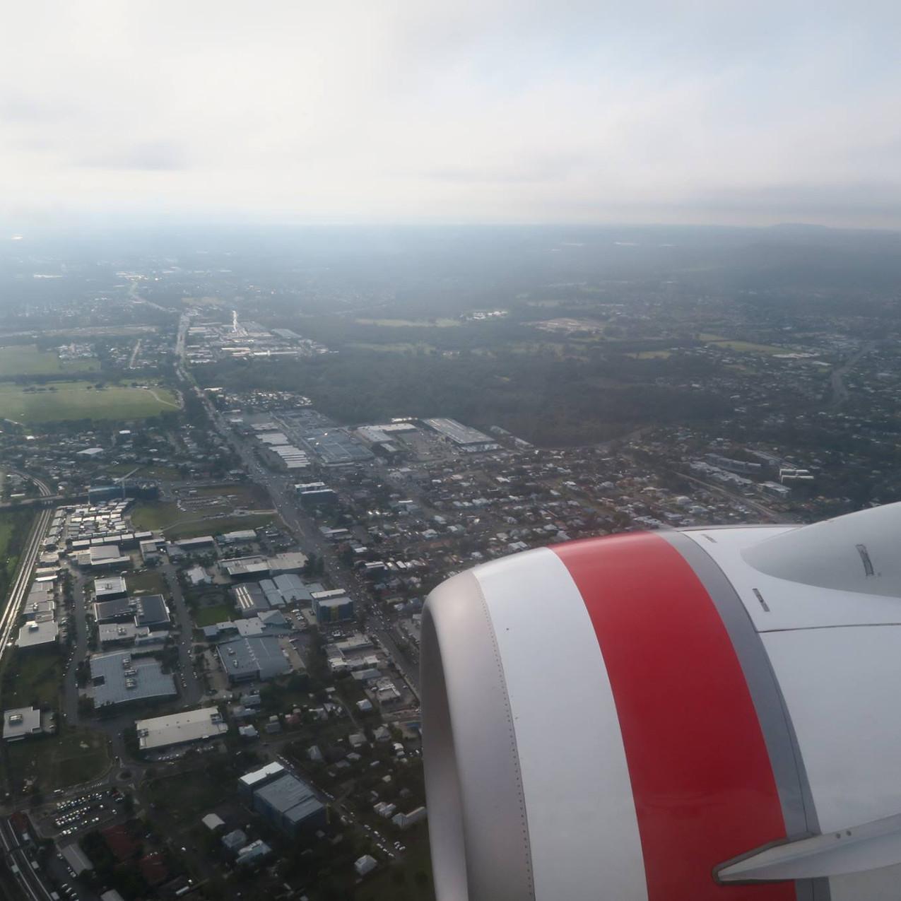 Landing into Brissy