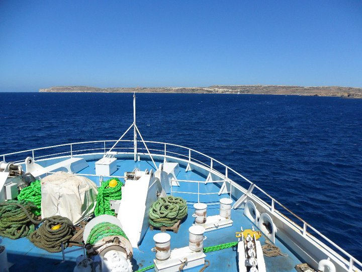 Arriving into Gozo