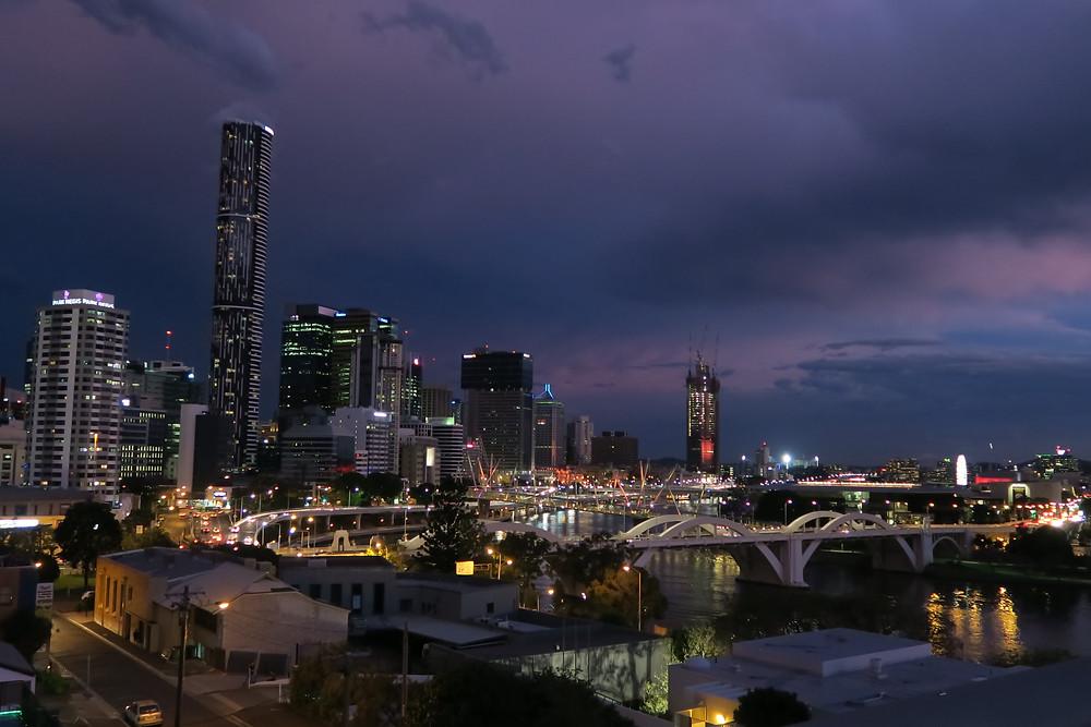 Brisbane- stormy skies