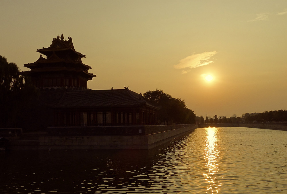 Forbidden City at Sunset