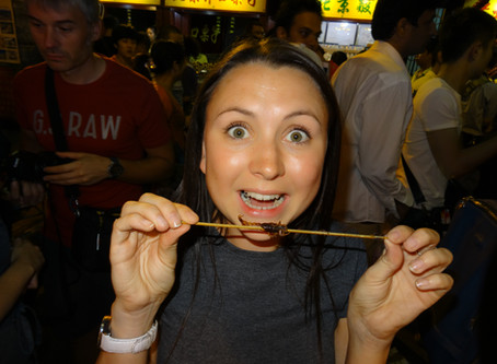 Eating Scorpions in Beijing