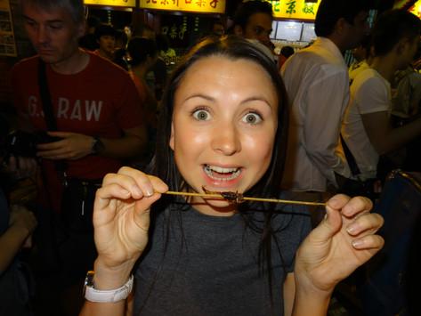 Eating Scorpions in Beijing