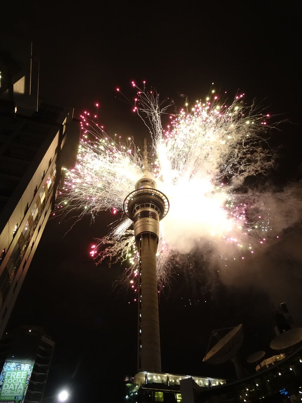 Fireworks at Sky Tower
