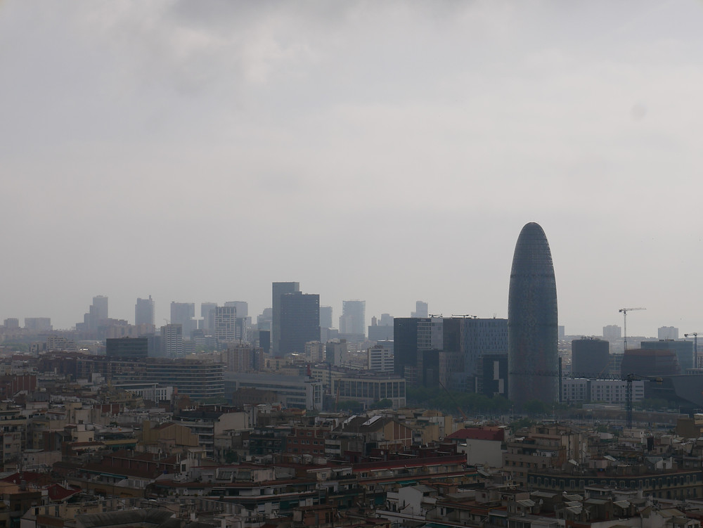 Views of Barcelona from La Sagrada Familia