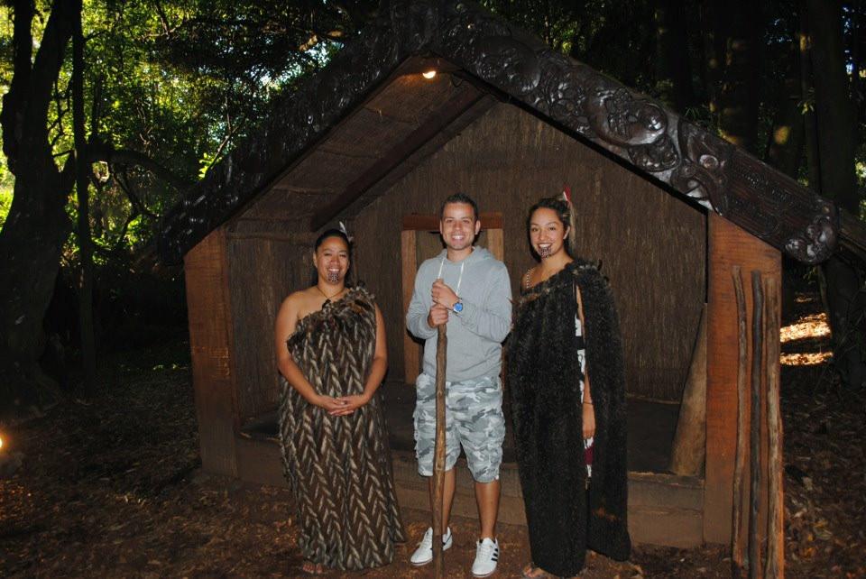 Tamaki Maori Village- Rotorua (girl looks like Kelly Brook)