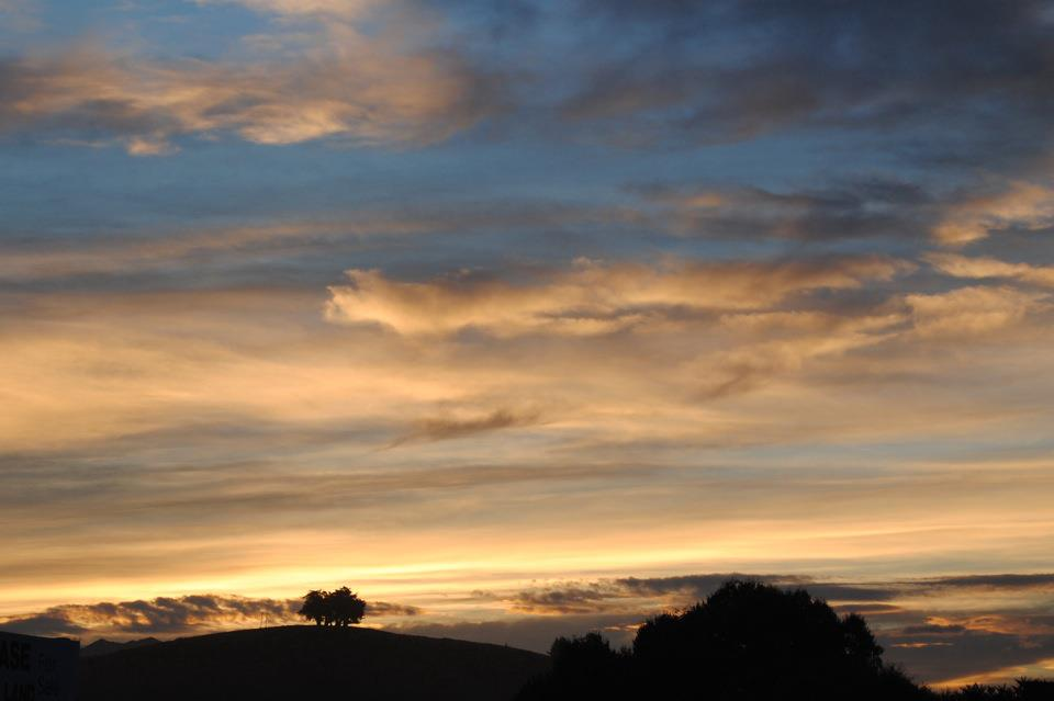 Sunset over Kaikoura