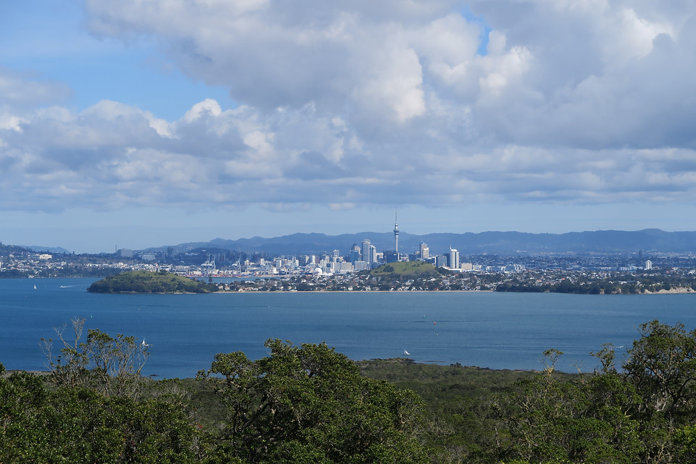 Views to Auckland city from Rangitoto