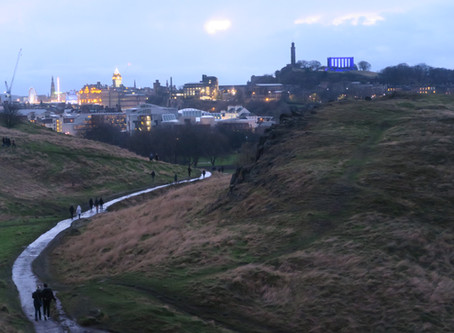 Climbing A Volcano In Edinburgh