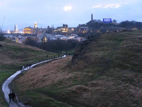 Climbing A Volcano In Edinburgh