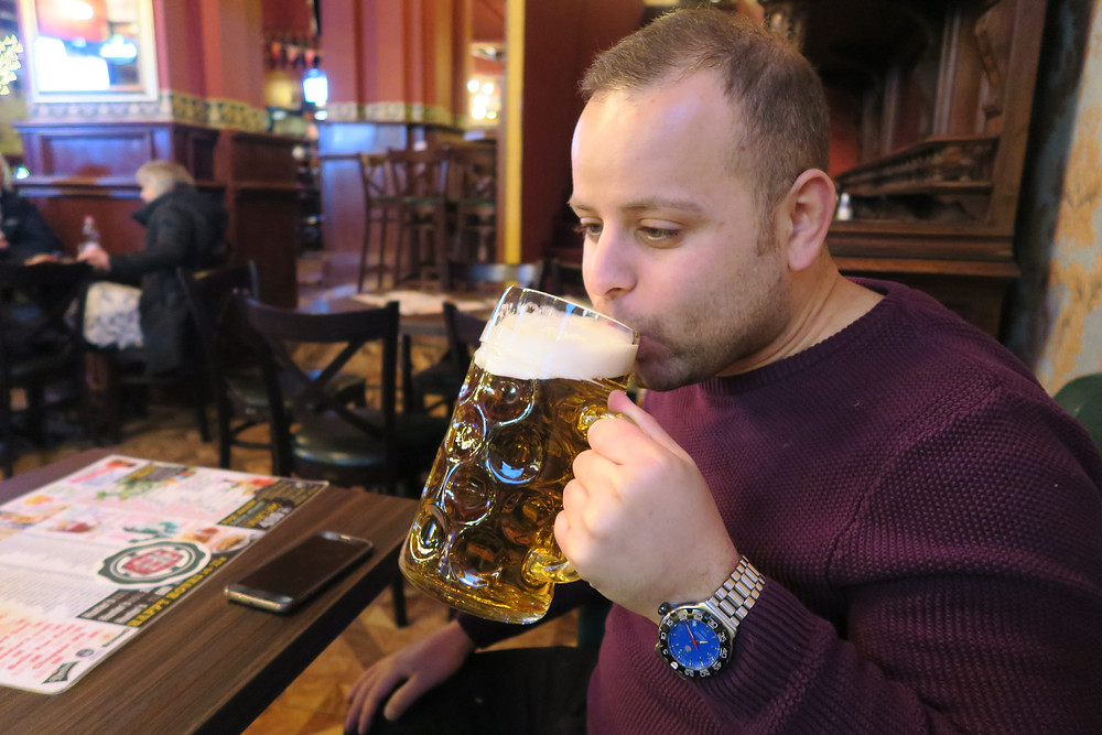 2 pint beer!